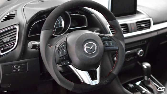 3rd gen Mazda3 steering wheel wrap kit