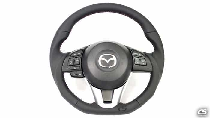 2014-2016 Mazda 3 leather and suede steering wheel