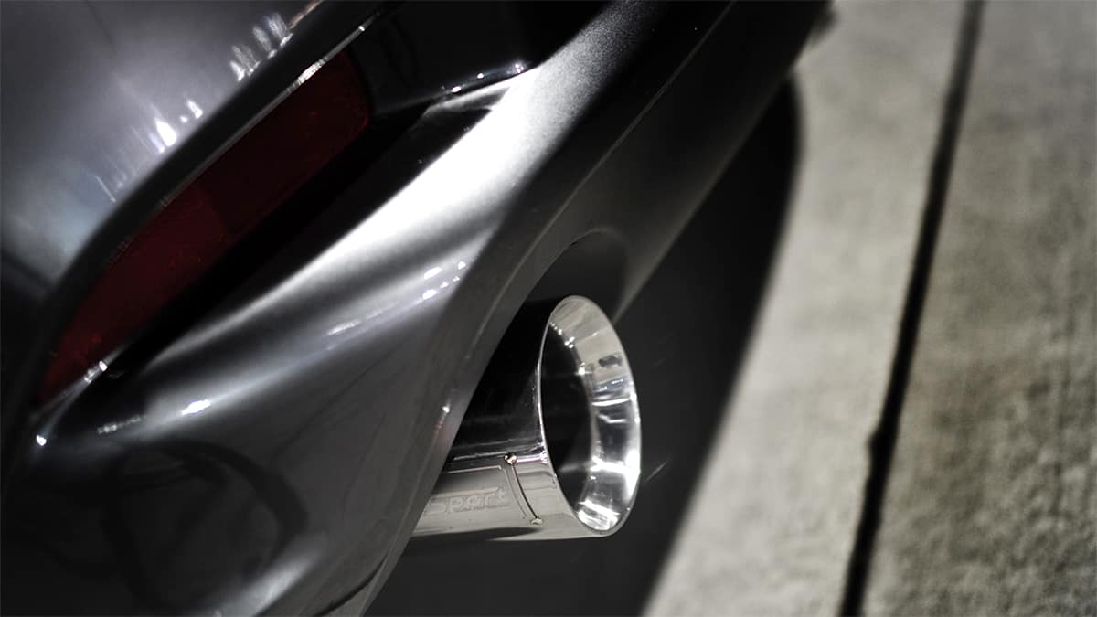 2015 Mazda 3 cat back exhaust with 4 inch tips