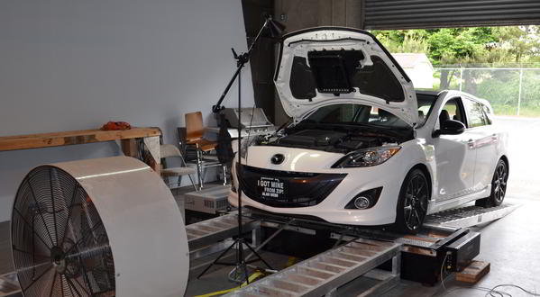 Corksport dyno testing of fuel pumps for Mazdaspeed 3