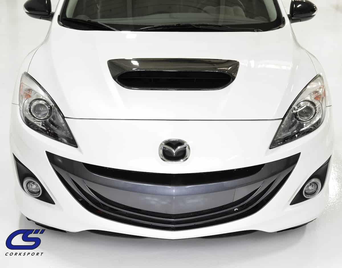 Mazdaspeed 3 Carbon Fiber Hood Scoop