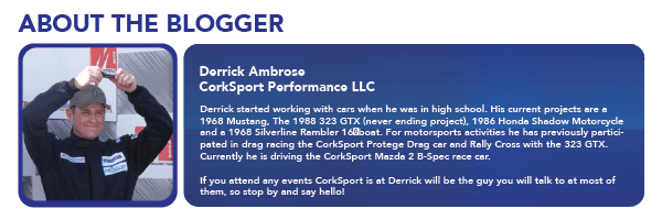Meet Derrick from CorkSport. Loves racing, Mazdas, and his CS fam.