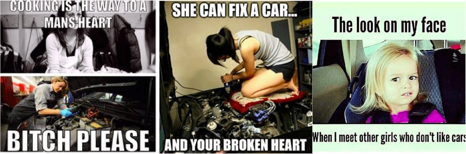 Car girls are protective of their cars and their fellow car girls and guys.