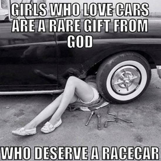 Girls that love cars