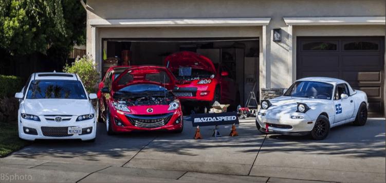 Corksport Mazdaspeed in Garage