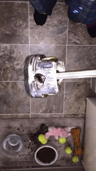Hole in Mazda piston