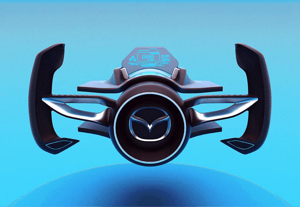 Mazda Shinshi concept steering wheel