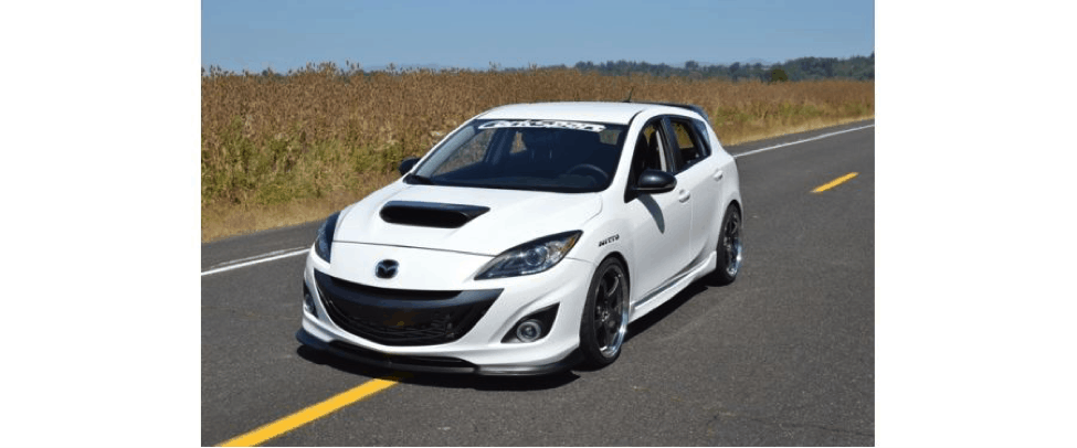 This Mazdaspeed with CorkSport's new front lip has style and speed.
