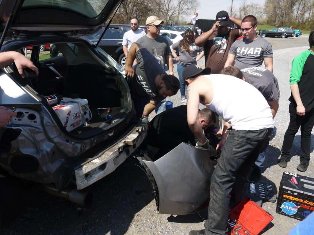 Mazda community members working together.