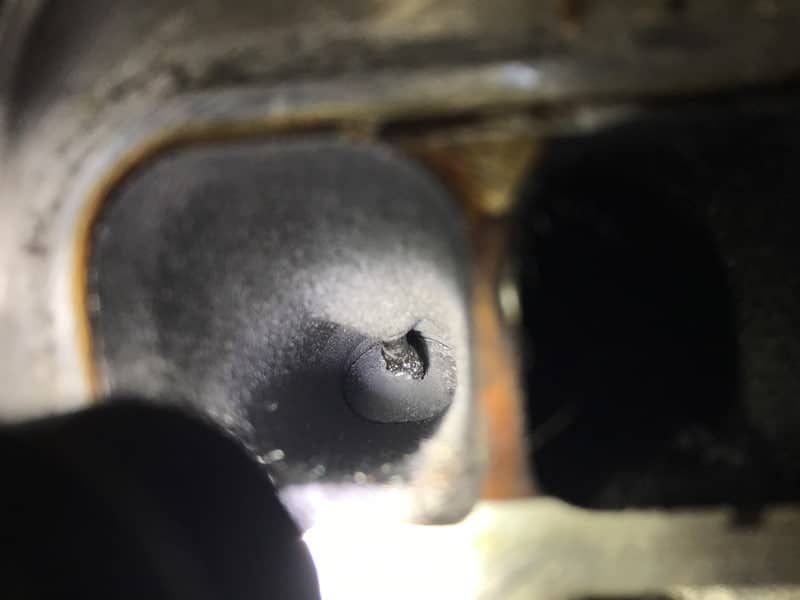 Carbon build up on a Mazda engine without the catch can