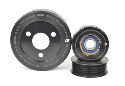 CorkSport's 2007-2013 Mazdaspeed 3 Aluminum Pulley Set has an anodized finish to keep your engine bay looking great.