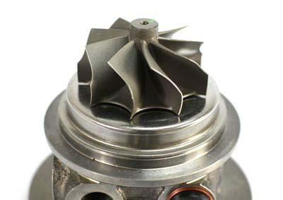 CorkSport Mazdaspeed replacement turbo turbine wheel with nine blades.