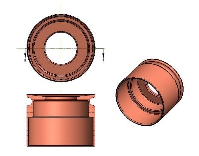 Drawing of a CorkSport fuel injector seal.
