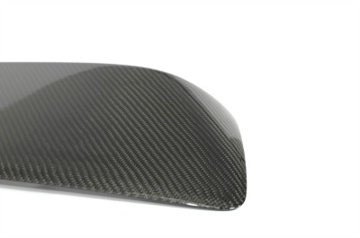 CorkSport's Mazdaspeed3 carbon fiber hood scoop has a superb finish.
