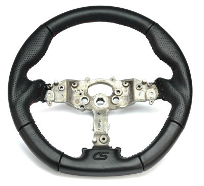 CorkSport's Performance Steering Wheel for Mazda 3 and Mazdaspeed 3 is a direct OEM replacement wheel.