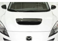 Our durable, carbon fiber hood scoop for Mazdaspeed 3 is stylish both up close and from afar.