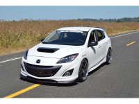 The CorkSport Mazdaspeed 3 front lip is a completely unique design.
