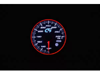White face Mazdaspeed oil temperature gauge.