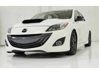 A front view of CorkSport's Mazdaspeed3 hood scoop for 2010-2013 models. Looking good!