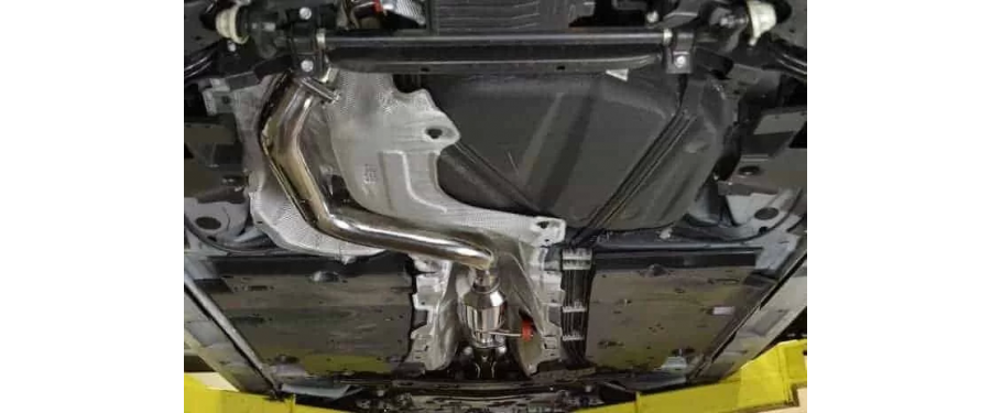 Mazdaspeed 3 Catback Exhaust resonated underneath closeup