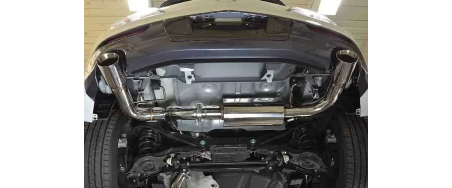 Mazdaspeed 3 Catback Exhaust resonated view from underneath