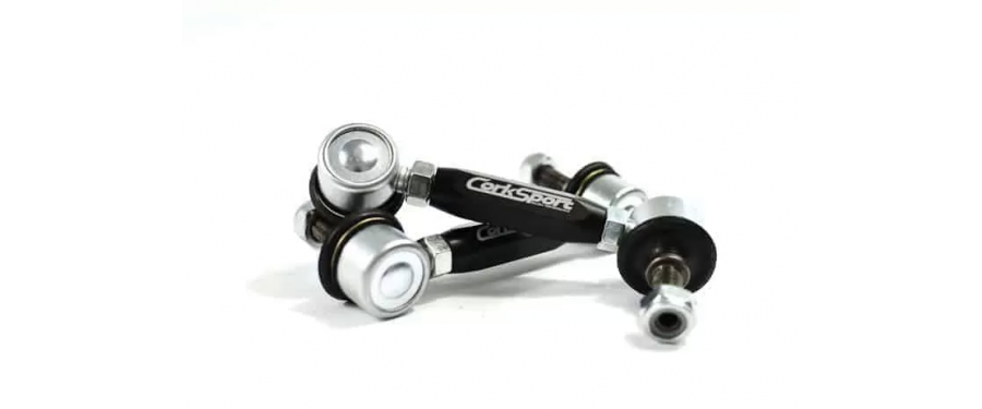 The CS ball joints feature an all steel construction compared to the OEM plastic inner cup.