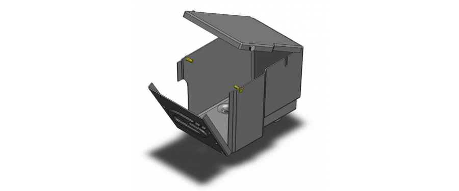 CAD designed and manufactured from durable ABS.