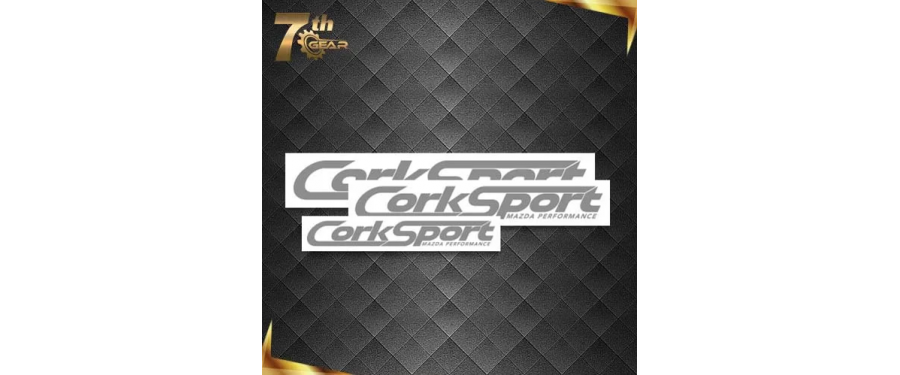 Our new 7th Gear membership program includes many perks, including these CorkSport decals.