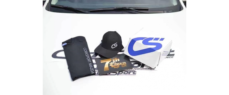 Our new 7th Gear membership program includes many perks, including a CorkSport branded hat, t-shirt and vinyl kit.