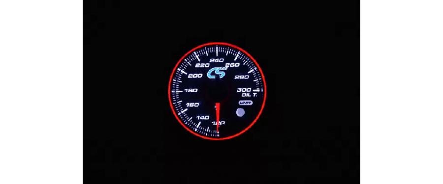 White face Mazdaspeed oil temperature gauge.